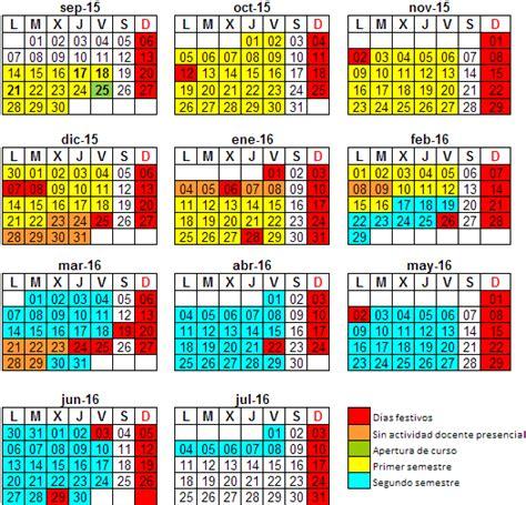 Calendario Escolar Uanl 2015 Calendario Acad 233 Mico Curso 2015 16 Universidad De Burgos