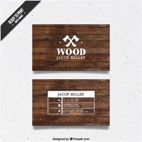 Wooden business card Vector   Free Download