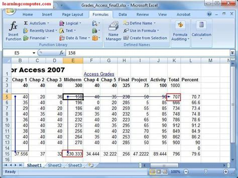 tutorial excel formulas 2007 grading using if function in excel 2007 how to use
