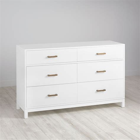 White 6 Drawer Dresser The Land Of Nod Cargo 6 Drawer Dresser White Domino