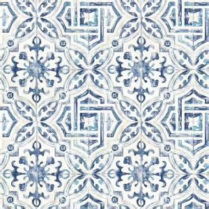Chesapeake 56.4 sq. ft. Sonoma Blue Spanish Tile Wallpaper