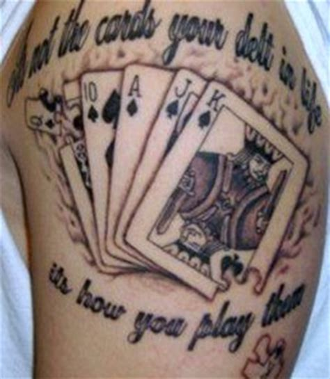 playing cards tattoos design free amazing styles cards designs photos