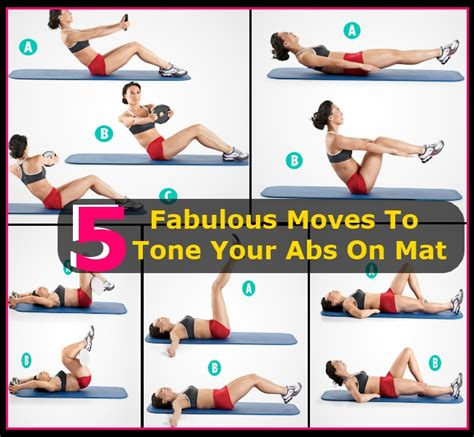 Mat Exercises To Lose Weight by 5 Fabulous To Tone Your Abs On A Mat Diy Home Things