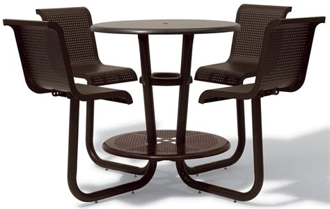 Chair Attached To Table by Portage Bar Height Table With Attached Chairs 42