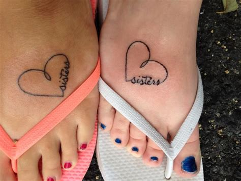 sisters matching tattoos
