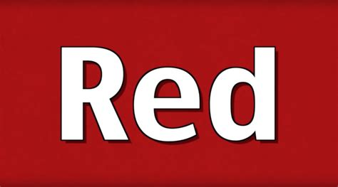 youtube red color red is the color of the day children s song red colors