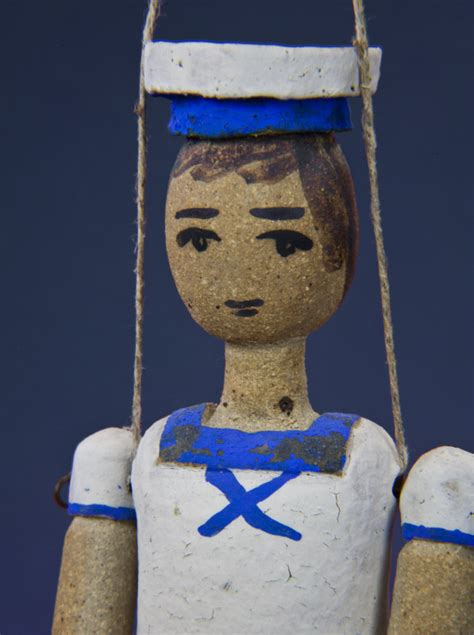 Hellenic Handcrafted Creations - greece sailor made from ceramic and wire in summer