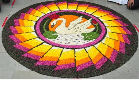 flower pattern rangoli design why do indians make rangolis discovering india net