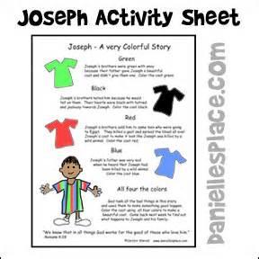 free sunday lesson for children joseph a very
