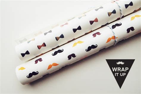 printable mustache wrapping paper moustaches and bow printable wrapping papers design is yay