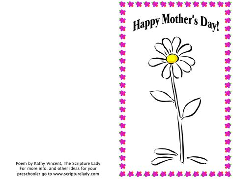 Religious S Day Card Template by Picturesque Design Ideas Mothers Day Poems For