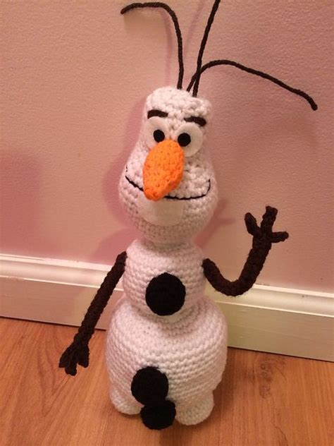 Snowman Isi 7 olaf snowman from disney s frozen by jess knit and