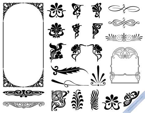 Design Elements Of Art Nouveau   art nouveau design elements premium vector graphics