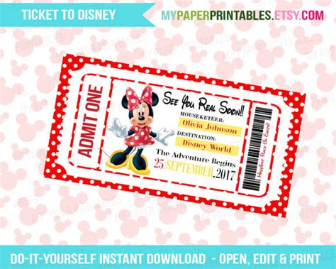 printable pretend disney tickets surprise disney tickets printable pictures to pin on