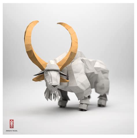 3d Origami Sculptures - 3d origami sculptures of animals that will capture your
