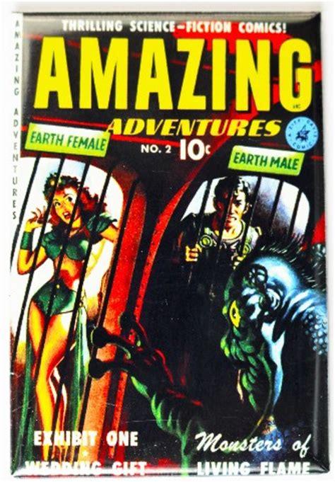 amazing adventures comic book fridge magnet sci fi space