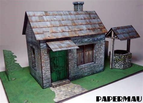 house diorama house papercraftsquare free papercraft page 12