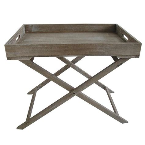 wooden tv tray tables distressed wood graywash tray table