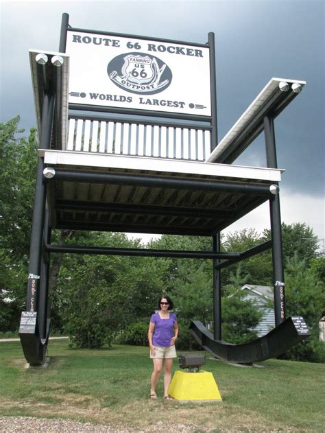 Worlds Largest Rocking Chair by 17 Best Images About Route 66 On Missouri