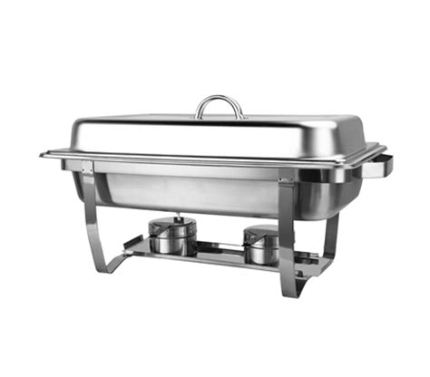 bain marie bow chafing dishes 2x4 5l stainless steel