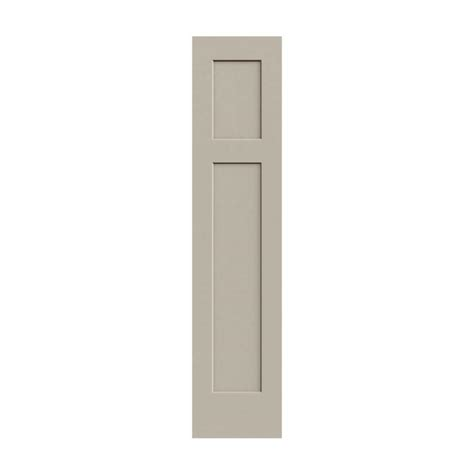 3 Panel Doors Interior Jeld Wen 18 In X 80 In Molded Smooth 3 Panel Craftsman Desert Sand Hollow Composite