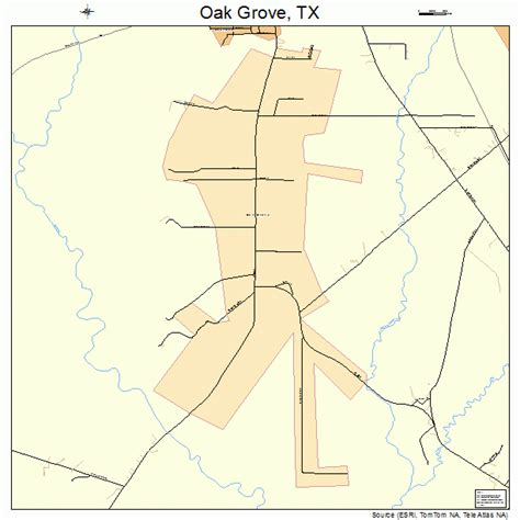 oak texas map oak grove texas map 4852902