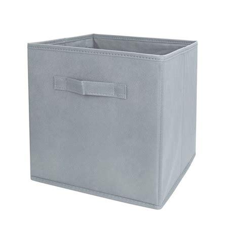 Fabric Cube Drawers by Grey Fabric Cube Storage Bins Foldable Premium Quality