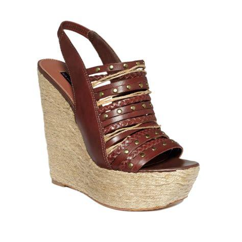 steve madden platform sandals steve madden breannaa platform wedge sandals in brown