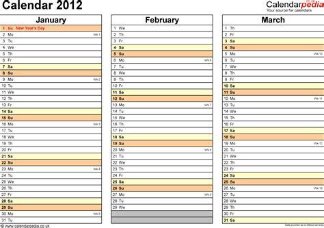 Kalender 2018 Zum Ausdrucken Quartal Excel Calendar 2012 Uk 11 Printable Templates Xlsx Free