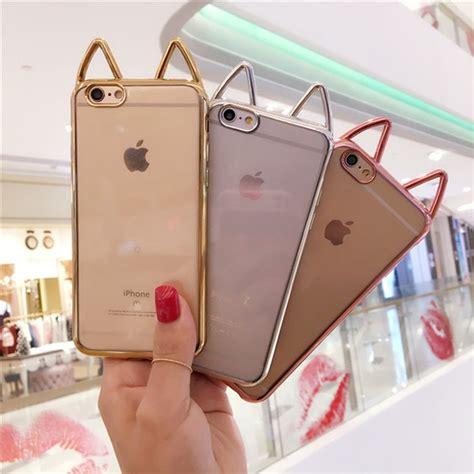 fashion cute funny cartoon cat ears phone case  apple