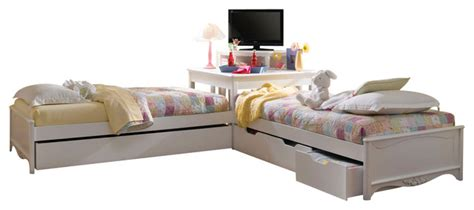 corner platform bed opus designs by hooker furniture lily double twin with