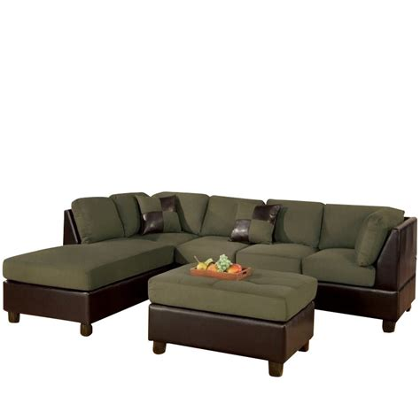 microfiber and faux leather sectional sofa poundex bobkona hungtinton microfiber faux leather 3 piece