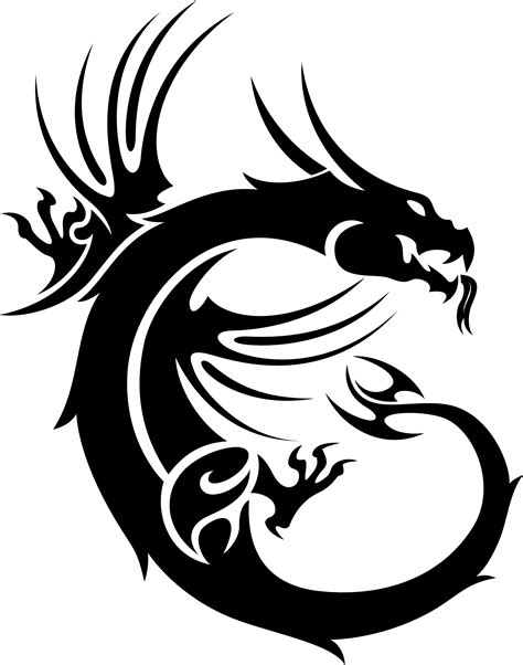 tattoo dragon logo tribal dragon by sallemcat on deviantart