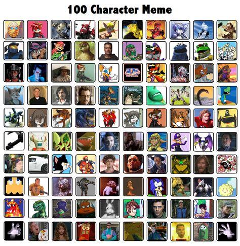 Meme Characters - 100 character meme by rylaktyrnda on deviantart