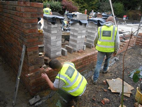 vine cottage laying  foundations  architectural
