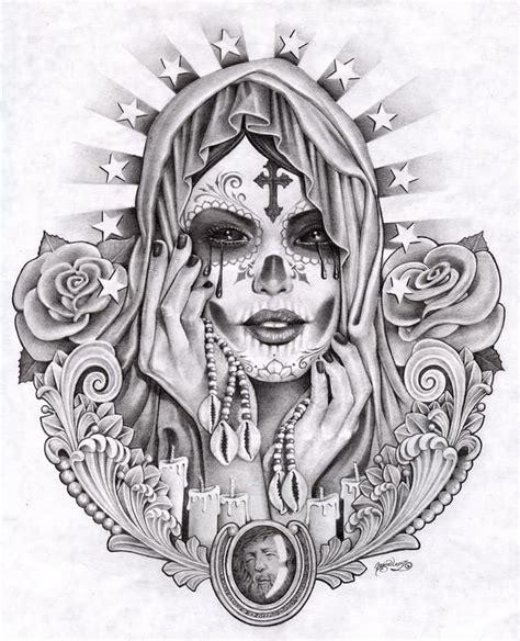 mexican girl tattoo designs mexican design by santa murte