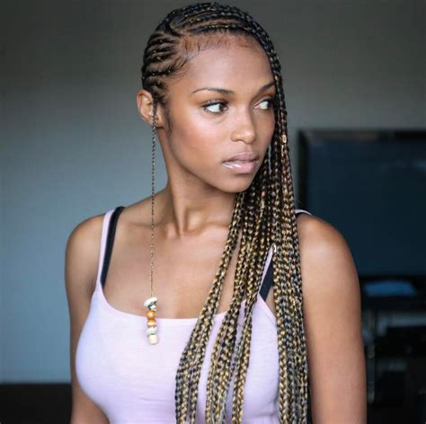 fine black brutish in shelby that does weave and brades 21 ways to style your braids braids for summer style