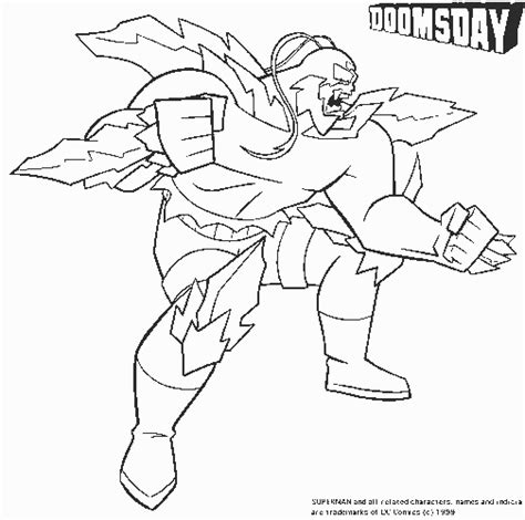 Doomsday Free Printable Dc Comics Coloring Pages Kipper The Coloring Pages