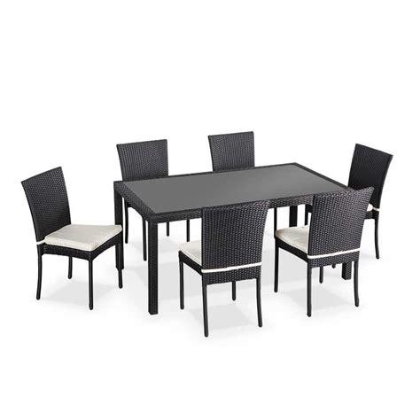 table 6 chaises salon de jardin en r 233 sine tress 233 e 6 chaises table d
