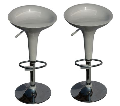 bar stool photos set of 2 bar stools available in white red brown black hydraulic swivel seat ebay