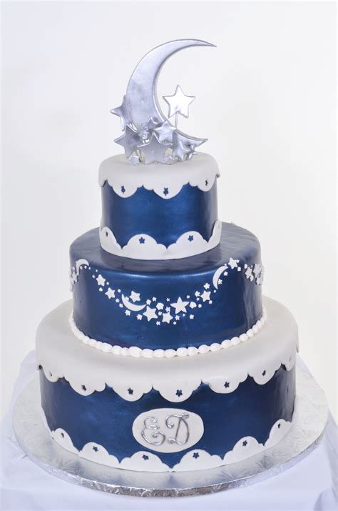star themed quinceanera cakes wedding cakes with moon and stars w590 moon stars