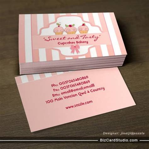 business card template for a bakery business card templates studio pink cupcake bakery