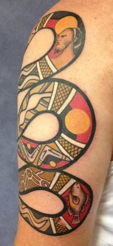 tattoo history in australia mechanical red kangaroo aboriginal xray style tattoo