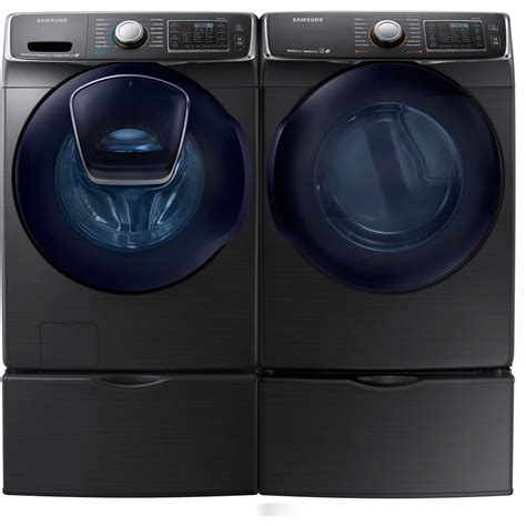 Samsung Washer And Dryer by Samsung Black Stainless Washer Electric Dryer Pedestals