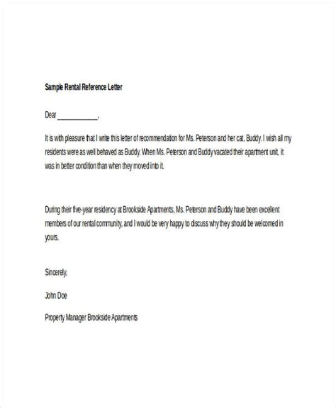 Letter For Rent Room 9 Rental Reference Letter Template Free Word Pdf Format Downlaod Free Premium Templates
