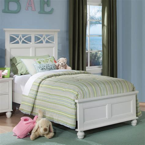 stylish kids bedroom with white panel headboard for full