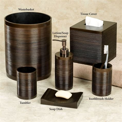 brown bathroom accessories brown bathroom accessories modern line burgundy striped