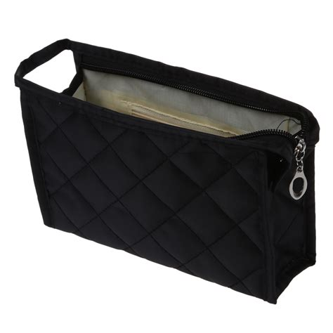 grid pattern bag portable black girls grid pattern cosmetic make up small