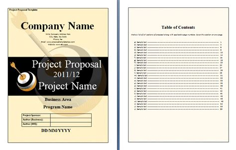 proposal free template new calendar template site