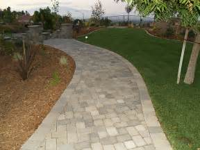 pavers after paver walkway landscape and design for the side of the home with the garden